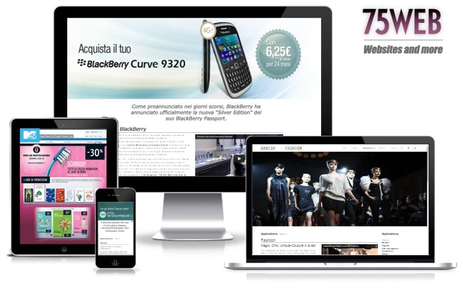 75web - Realizzazione siti internet - websites - adv online - banner - socials